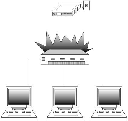 Рис 14 6 компьютеры соединенные через
